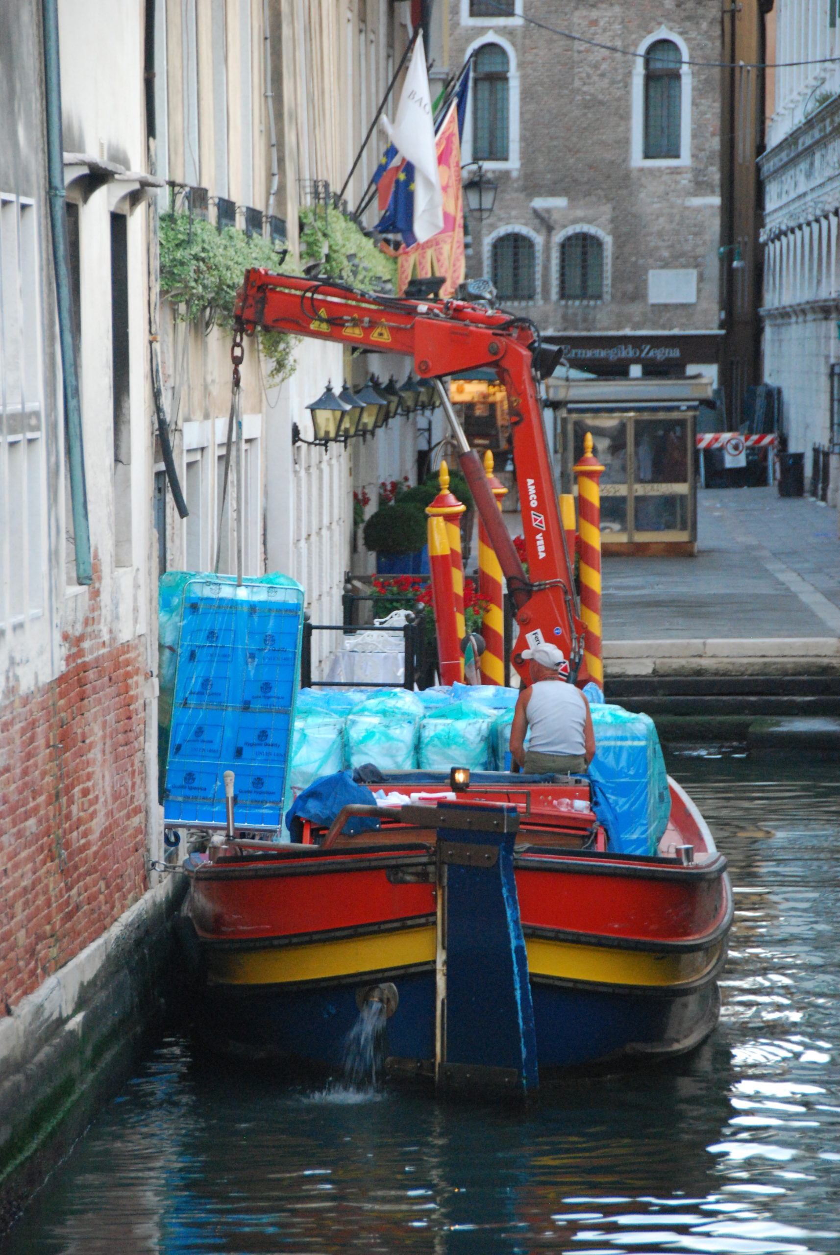 Specialist Vehicles Boat with Crane Venice Italy